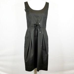 Lafayette 148 Black Sleeveless Tank Dress